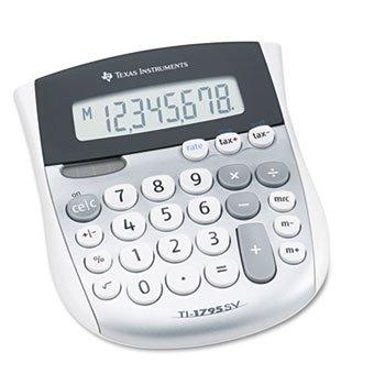Texas Instruments, Inc 8-Digit Solar Display Calculator,4-7/8''x5-2/3''x1'',Silver