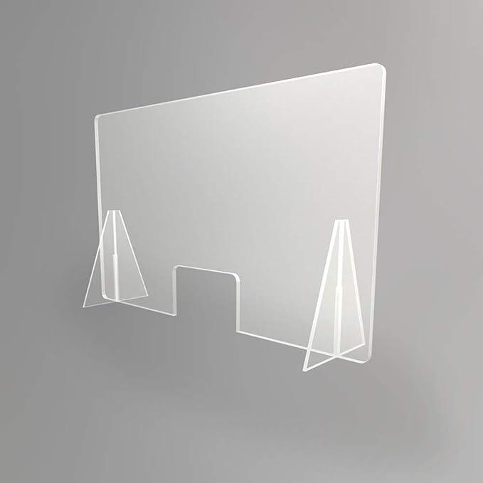 oficinas y comercios Mampara transparente anti contagio y protecci/ón 100 x 60 cm separador para mostrador mesas