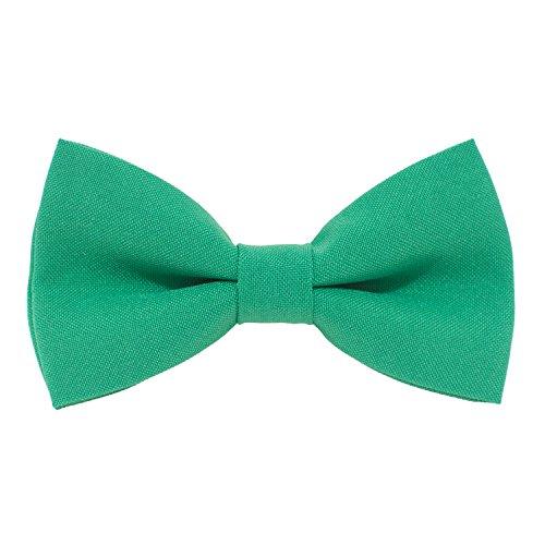 - Classic Pre-Tied Bow Tie Formal Solid Tuxedo, by Bow Tie House (Large, Light Green)