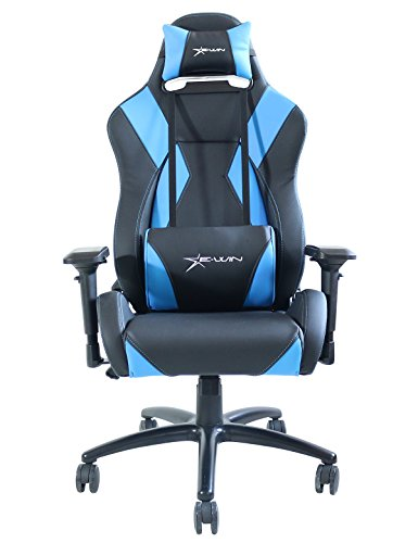 Ewin Chair Hero Series Ergonomic Computer Gaming Office Chair with Pillows-HRC (Black/Blue)