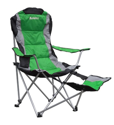GigaTent Camping Chair with Footrest, Green