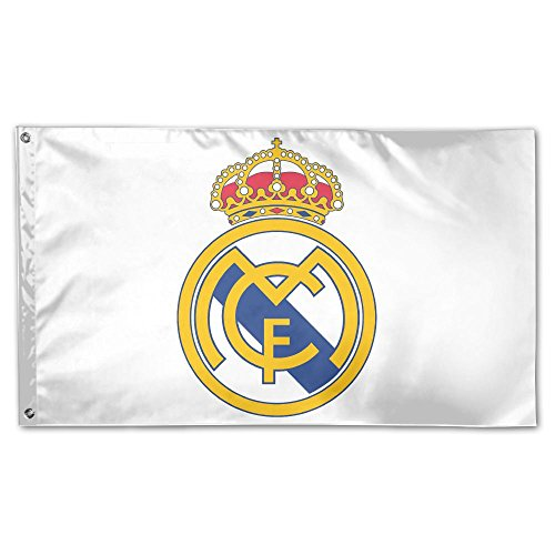 GNJY Real Madrid Logo Flag Fly Breeze -Polyester- Flags With Brass Grommets 3 X 5 FT