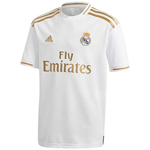 - adidas Kid's Real Madrid Home Jersey 2019-20 (Medium) White