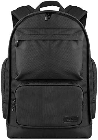 School Bag, 15.6 Inch Laptop Backpack Water Resistant Slim College Laptop Rucksack Student Bag for Boys/Girls – Black