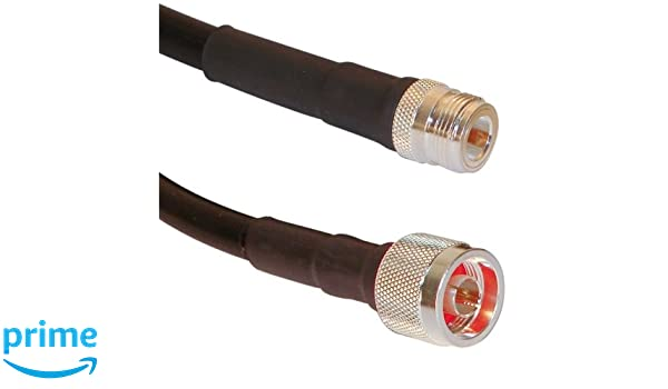 LMR-400 Times Microwave Coax 15 ft Extension Adapter US Made  N Male N Male