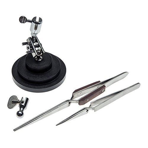 Universal Jewelry - Universal Hobby Jewelry Making Tweezer Stand Cross Lock Tweezers Fiber Grip Tool