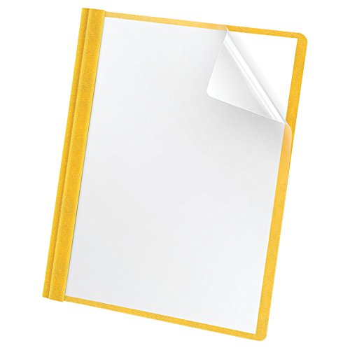 Oxford Premium Clear Front Report Covers, Letter Size, Yellow, 25 per Pack (58809EE)