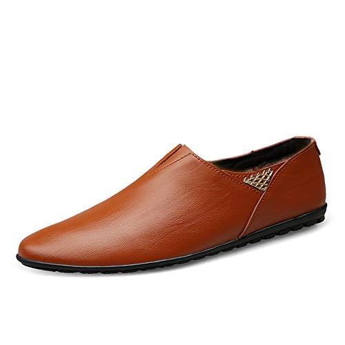 da da Uomo Mocassini Scarpe Driving Warm Shoes Vera in Cricket Pelle Soft Walking On Red Brown Slip Aqqw4pWSR