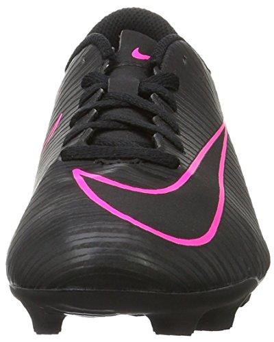 Nike Mercurial Vortex Iii FG, Chaussures de Football Compétition Mixte Enfant, Noir (Black/Black), 37.5 EU