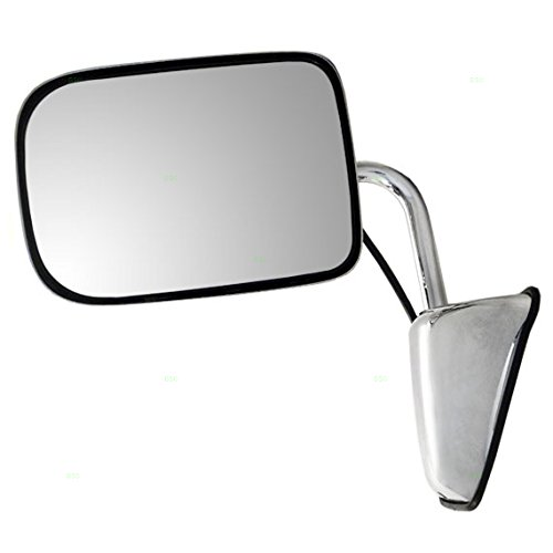 Glass W250 Dodge Mirror - Drivers Power Side View Chrome 6x9 Mirror Replacement for Dodge Pickup Truck SUV 55154669