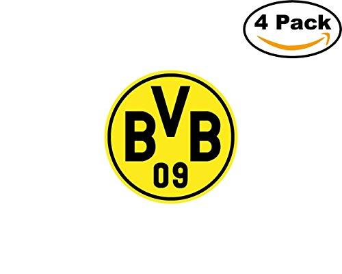 borussia dortmund logo 4 Stickers 4x4 Inches Car Bumper Window Sticker Decal