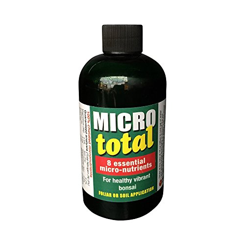 Micrototal Bonsai Tree Nutrient Supplement From Ho Yoku Bonsai Care Products Eight Essential Micronutrients Highly Concentrated 8oz Bottle Makes 8 Gallons Of Foliar Spray Encourages Lush Growth Vibrant Colors