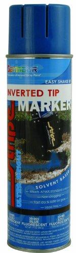 (Seymour 20-969 Stripe Solvent Base Inverted Tip Marker, Blue Fluorescent)