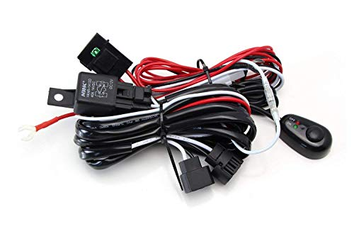 iJDMTOY (1) 5202 PSX24W 2504 Relay Harness Wire Kit with LED Light ON/OFF Switch For Aftermarket Fog Lights, Driving Lights, Xenon Headlight Conversion, LED Work Lamp, etc