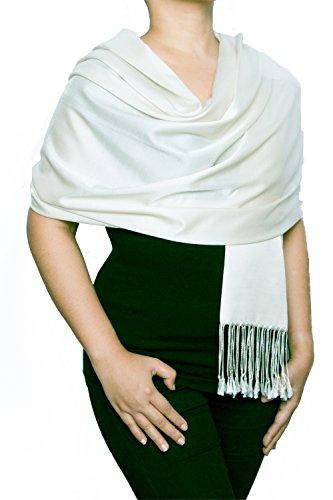 Opulent Luxury Women's Pashmina Silk Wrap Scarf Soft Shawl - 70 x 28 - Inch Long