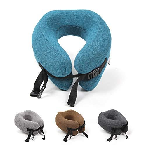 toorwarakorn.3152 U Shape Travel Pillow Memory Foam Adjustable Foldable Head Support Neck Cushion for Sleeping on Airplane Car Office