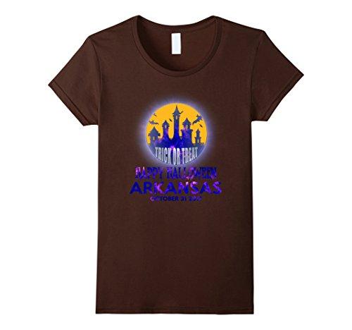 Womens Happy Halloween Arkansas 2017 T Shirt Medium Brown