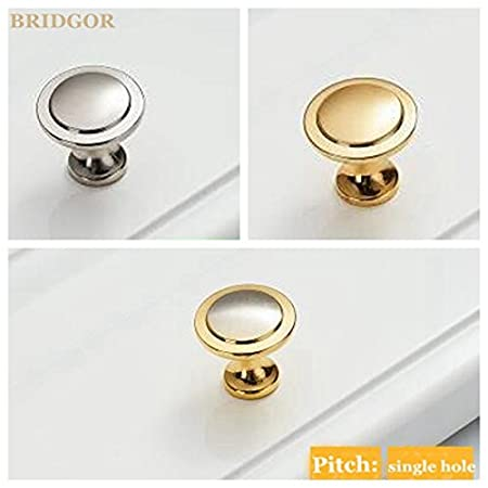 Gold BRIDGOR 25mm 8 pcs Modern simple solid thick green environmental protection does not fade Drawer Pull Handle Cabinet Door Knobs