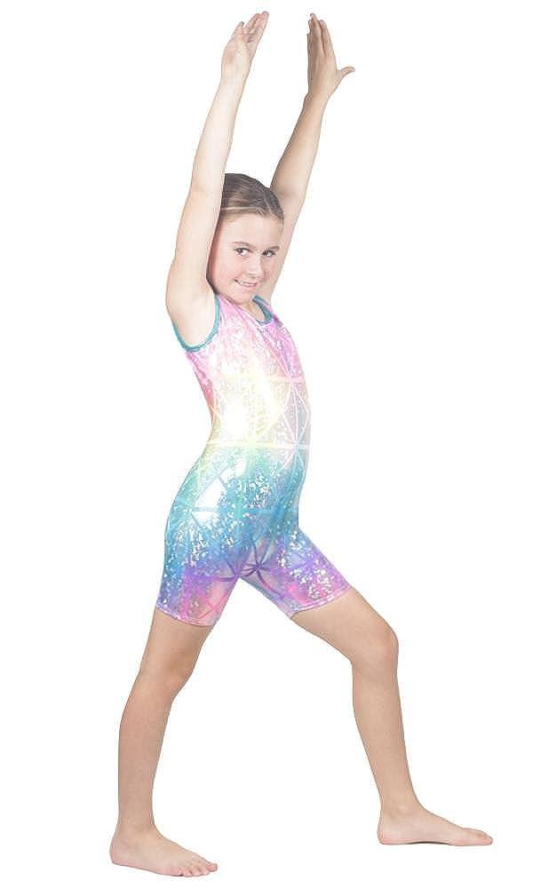 025eccba5 Amazon.com  Delicate Illusions Girl Metallic Gymnastics Unitard ...