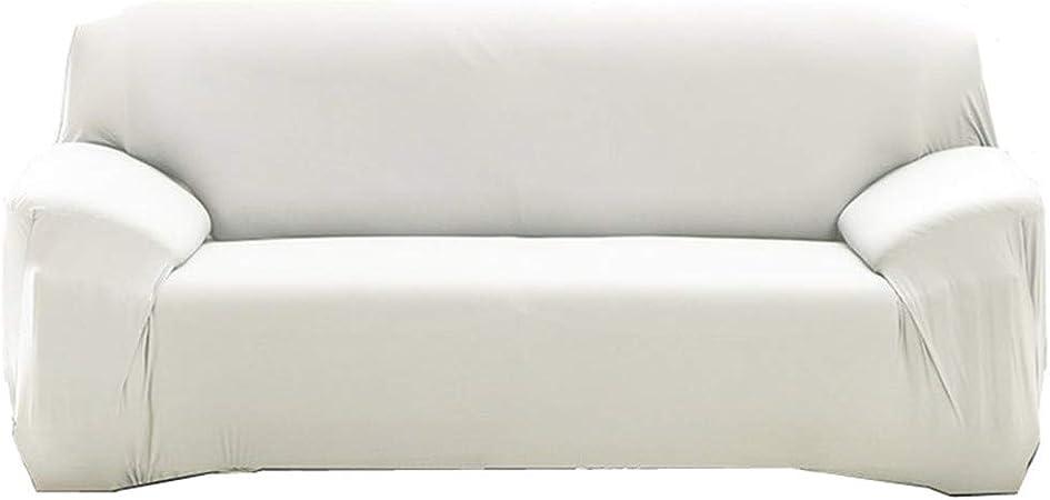 YuoungYuan Sillón Funda Fundas de Sofa Anti Gatos Estirar sofá Cubre Elástico sofá Cubre Perro sofá Cubre Elástico Cubierta del sofá Cubierta de sofá elástico 90-140,White: Amazon.es: Hogar