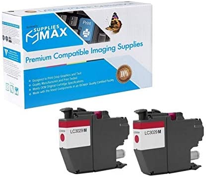 SuppliesMAX Compatible Replacement for Brother MFC-J5830//J5930//J6535//J6935DW Magenta Super High Yield Inkjet 2//PK-1500 Page Yield LC-3329M/_2PK