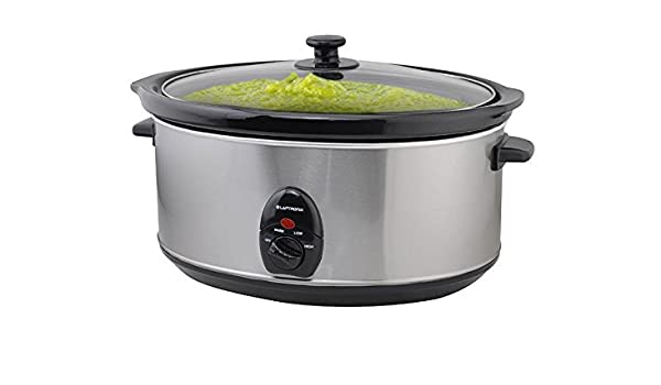 Premium Stainless Steel Slow Cooker 3.5L olla + Removable Ceramic Inner Bowl Steam Grill by laptronix: Amazon.es