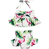 Yamed New Newborn Child Kid Girl Flamingo Swimwear Swimsuit Bikini 2Pcs Set Bathing Suit Costume 1-6T
