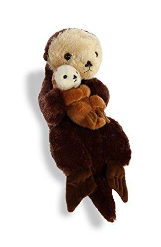 Aurora World Destination Nation Sea Otter Mom and Baby Plush Toy, Brown ()