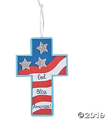 (24) Patriotic Faith Ornaments ~ Party Supplies ~ ()