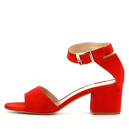 Evita Shoes Mariella - Sandalias de vestir de Piel para mujer Rojo