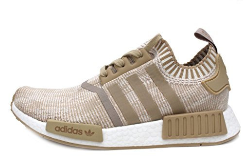 NMD R1 PK Mens in Linen Khaki/White by Adidas, 7.5