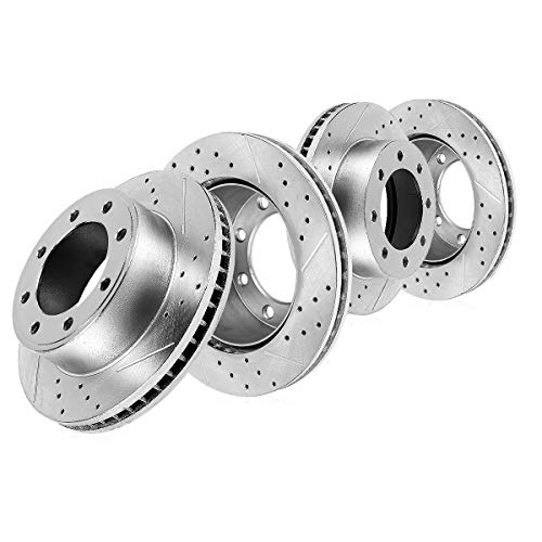 Callahan CDS02548 FRONT 331mm + REAR 325mm D/S 8 Lug [4] Rotors [for 1999 2000 2001 2002 2003 2004 Ford F350 4X4 Dually]