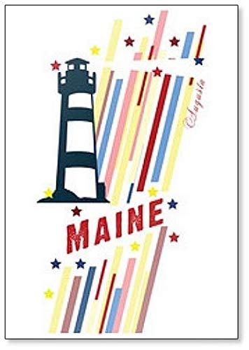 Maine State Artwork Fridge Magnet