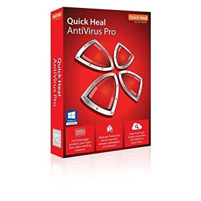 Quick Heal 1 Antivirus Pro, 3 Pc, 1 Year (Cd/Dvd)