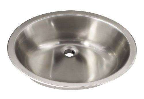 Schon SCSLB18 Undermount 18-Gauge Vanity Sink 19 1/8-Inch by 16 1/8 -Inch, Stainless Steel