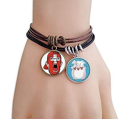 master DIY Switzerland Flag Facial Makeup Screaming Cap Bracelet Rope Wristband Pig Heart Love Set Estimated Price -