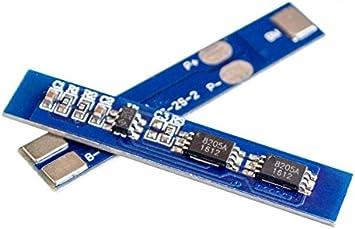 5PCS/Lot 2S 3A Li-Ion batería de Litio 7,4 V 8,4 V 18650 Cargador Placa de protección BMS pcm para batería de Litio Lipo Pack: Amazon.es: Electrónica