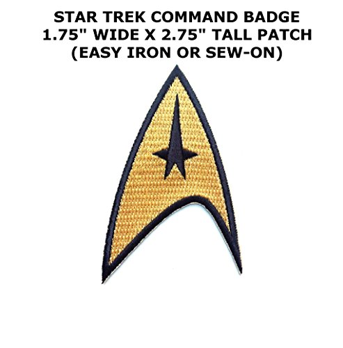 Patch Sew Iron - Sci-fi Star Trek Command Badge Iron or Sew-on Patch