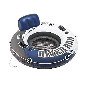 "Intex River Run 1 Fire Edition Sport Lounge, Inflatable Water Float, 53"" Diameter"