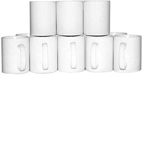 Signzworld 311,8gram Grande vierge revêtu Poignée Tasses (lot de 36)–Blanc