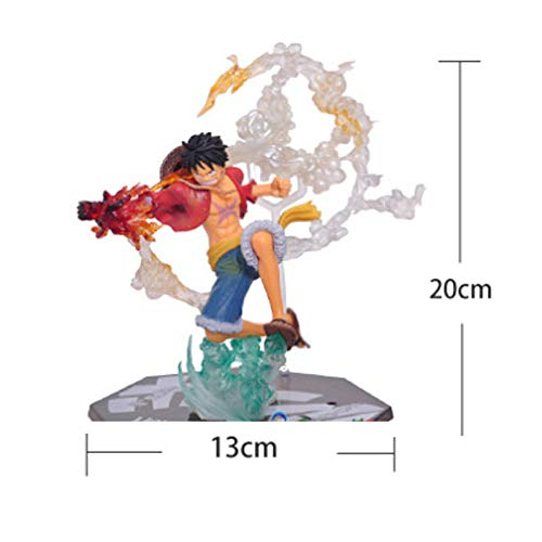 LULUDP Anime-Modell Pirates Hand Feuer Faust Straße Fliegen Fliegen Fliegen Auto Ornamente Luffy Battle Version Puppen schönen Box 18cm B07NV5XCT3   Genial  c62ad0