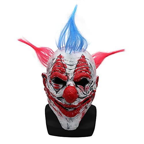 Halloween Clown Mask Latex Props Scary Masquerade Men and Women Headwear ()