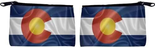 Rikki Knight Colorado State Flag Design Scuba Foam Coin Purse