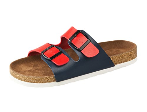 SK Studio - Zapatos con tacón Mujer Rot+Schwarz