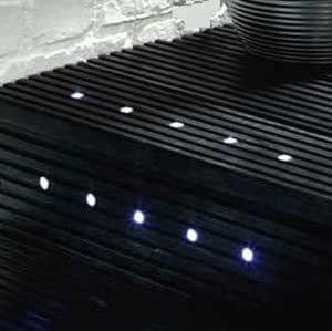 set of 10 15mm white led deck lights