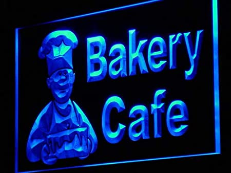 ADVPRO Cartel Luminoso i951-b Bakery Cafe Shop Bread Cake ...