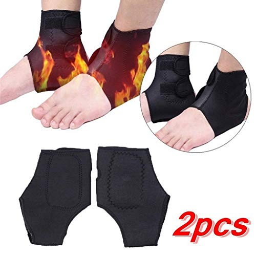 Asatr 2 pcs Unisex Tourmaline Self-Heating Ankle Support Protector Sports Medicine