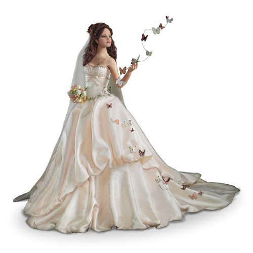 Ashton Drake Porcelain Doll - Bride Doll With Soaring Butterflies By Artist Anna Hardman: On Wings Of Love - By The Ashton-Drake Galleries