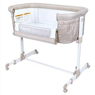 Papablic 2-in-1 Anio Baby Bassinet & Bedside Sleeper, Brown