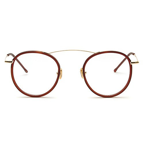 TIJN Retro in Chic Metal Eyeglasses Frame Flex Arm Glasses Small - Glasses Arms